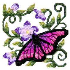 butterfly6 - Cross Stitch Butterfly Machine Embroidery Design