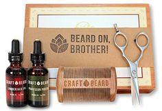 Premium Men's Beard Grooming Kit by Craft Beard   Beard &...