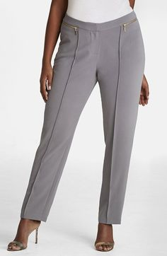 Mynt+1792+Zip+Detail+Pintuck+Pants+(Plus+Size)+available+at+#Nordstrom