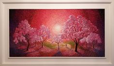 Chris Quinlan Irish artist | Palette knife paintings Cherry Blossom Tree, Blossom Trees, Paintings For Sale, Original Paintings, Palette Knife Painting, Selling Art, Texture Painting, Artist Painting, Contemporary Paintings