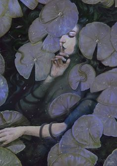 """'Hidden Things' by Kim Myatt New painting for the Month of Fear challenge """"Secrets"""". Things kept hidden can drown us, and our loved ones, in a mire of our own making."""