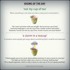 #idioms about a cup of tea #voc #ELT