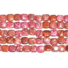 Dakota Stones 12mm Square Pink Crazy Lace Agate Gemstone Beads