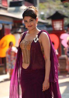Kajal Agarwal - Beauty that will blow you away!!!: Kajal Agarwal Hot Navel Pics In Jilla Movie
