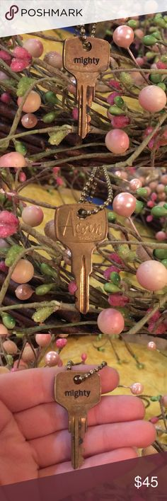 MIGHTY Vintage Key Necklace Handmade • vintage key • engraved words • we can personalize keys! Just please give us about a week to get it done • see 4th picture for necklace length • WHAT THESE KEYS MEAN! our goal is to encourage and prayerfully unlock the word that is stamped on your key in your life. Are you afraid? Fearless is your key. Unlock fearlessness in your life • are you struggling? Thrive is your key • are you depressed? Unlock joy in your life • are you in need of an…