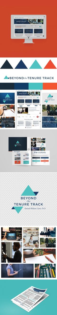 Brand Identity Design for Beyond the Tenure Track founded by Fatimah Williams-Castro | Workbook layout design | One page layout | custom icons | Wordpress Website design | Brand inspiration | Social media brand design