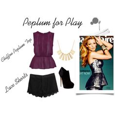 """""""Peplum for Play"""" by thedoubleissue on Polyvore"""