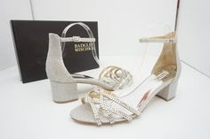4ab4d8c8748 Badgley Mischka Silver Sonya Diamond Drill Women s High Heel Bridal Sandals  Size US 11 Regular (