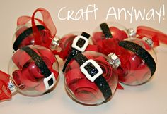 Craft Anyway!: Santa Belly Ornaments