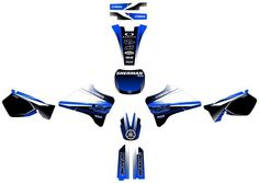 YAMAHA YZ 125 / YZ 250 Graphics decals!!!CALCOS, excellent quality!!