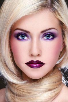 Purple make up Beauty Makeup, Eye Makeup, Hair Makeup, Hair Beauty, Doll Makeup, Flawless Makeup, Young And Beautiful, Beautiful Eyes, Makeup Trends
