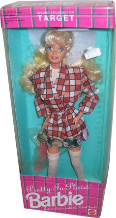 *1992 Target pretty in plaid Barbie doll 2 #5413