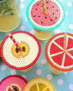 PERLER BEADS: Keep pesky bugs out of your cocktail (and double-down on summery style) with these genius cup guards. Get the tutorial at Makezine » - GoodHousekeeping.com