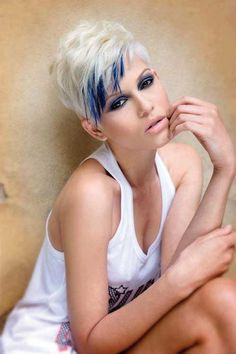 Color Ideas for Short Hair 2013 Short Hairstyles 2014 Most Popular Short Hairstyles for 2014 Blonde And Blue Hair, Hair Color Blue, Cool Hair Color, Short Blonde, Blonde Pixie, Lilac Hair, Pixie Color, Short Hair Cuts, Short Hair Styles