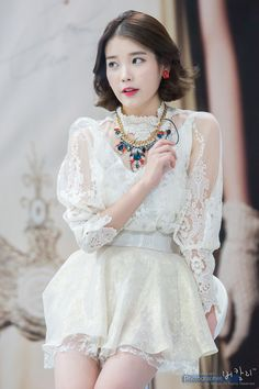 Describe IU with one word! Girl Drama, Floral Bustier, Ulzzang Korean Girl, Iu Fashion, Sexy Teens, Stage Outfits, Korean Actresses, Short Hairstyles For Women, Beautiful Asian Girls