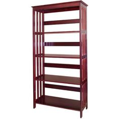 4-Tier Bookcase, 60 inch, Red