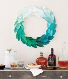 DIY project: Paint chip wreath