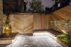 Garden & Landscape Design London by Adolfo Harrison Gardens Garden Landscape Design, Garden Landscaping, Built In Bench, Backyard, Patio, Water Features, Grape Vines, Townhouse, Cottage