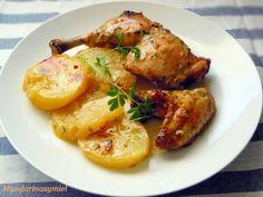Pollo al cava en horno - Fácil - Fırın yemekleri - Las recetas más prácticas y fáciles Patatas Guisadas, Pollo Guisado, Chicken Wings, Shrimp, Meat, Food, Salads, Veggie Omelette, Dishes