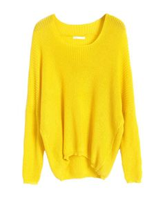 Neon Color Batwing Jumpers with Dip Hem--bright but cute