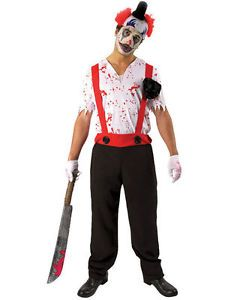 Evil Clown Fancy Dress Costume | could get guys to wear black pants, red braces, white shirt, the. Get Rey wig plus makeup