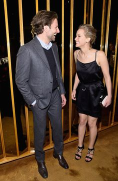 "Jennifer Lawrence Photos Photos - Bradley Cooper and Jennifer Lawrence  attend the after party of a screening of ""Serena"" hosted by Magnolia Pictures And The Cinema Society With Dior Beauty on March 21, 2015 in New York City. - Magnolia Pictures And The Cinema Society With Dior Beauty Host A Screening Of ""Serena"" - After Party"