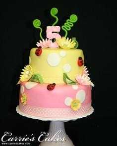 Lil' lady Bugs Birthday Cake