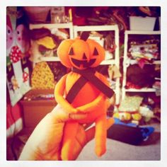 Heidi Kenney has a fun tutorial on her blog to make this cute little pumpkin guy! Love it!
