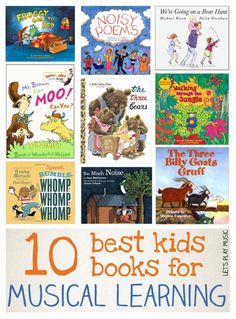 Best Kids Books For Musical Learning to develop rhythm and listening skills with improvisation and imagination.