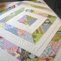 "i love how this is quilted.  Projects from ""Machine Quilting Negative Space"""