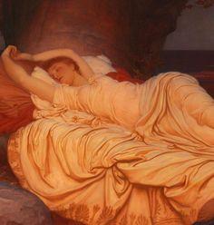 "Dorothy Dene 0 finjigoga: ""Lord Frederic Leighton, ""Cymon and Iphigenia""(detail), 1884. """