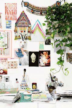 eclectic inspiration wall / sfgirlbybay