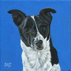 Original Custom Pet Portrait Pet Painting 6 x by ClarityArtDesign