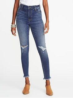 e976d062565 Mid-Rise Boyfriend Straight Distressed Jeans for Women
