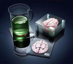 These Brain Coasters Form a Full 3D Brain When Stacked