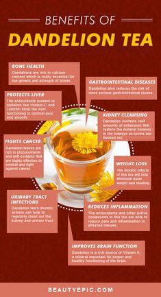 13 Amazing Benefits of Dandelion Tea for Your Health and Skin Health Benefits of Dandelion Tea. Food facts Amazing Benefits of Dandelion Tea for Your Health and Skin Health Benefits of Dandelion Tea. Herbal Remedies, Health Remedies, Natural Remedies, Psoriasis Remedies, Healthy Detox, Healthy Drinks, Diet Detox, Liver Detox Tea, Healthy Treats
