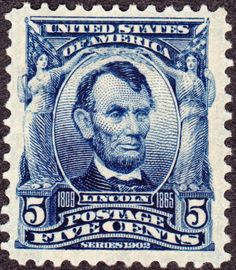 Abraham Lincoln 1903 Issue-5c - U.S. presidents on U.S. postage stamps - Wikipedia, the free encyclopedia