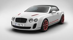 Supersports Convertible ISR finished in Arctica with ISR Mulliner options; Red Supersports ISR Graphic, Red Painted Wheels with Diamond Turned Finish and Red Bonnet Vent Surrounds