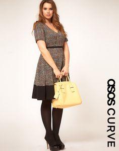 ASOS CURVE Premium Midi Dress In Rainbow Cloth (sz 14-22)