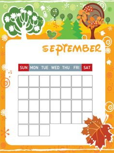 Stay Organized this Fall With Our Printable Calendars! Repin and share.