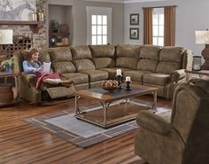 England Furniture 3A00 with Longhorn Silt fabric