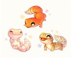"fluffysheeps: ""Some gecko pals """