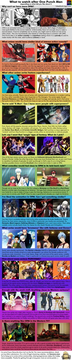 Anime recommendation infographics - Imgur