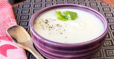 Esta receta de crema de coliflor es estupenda para las cenas de otoño/invierno. El jengibre tiene propiedades digestivas y ayuda a combatir los resfriados.