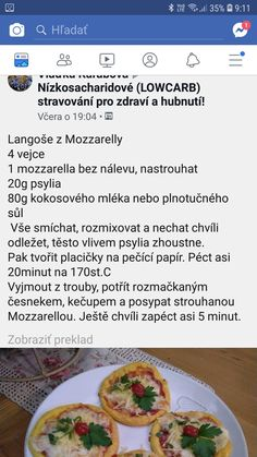 Langoše Keto Bread, Low Carb Diet, Food Inspiration, Paleo, Food And Drink, Yummy Food, Healthy Recipes, Dinner, Fit