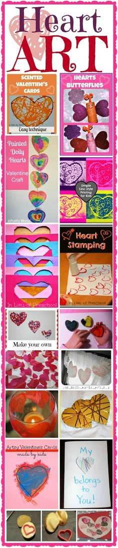 Heart art activities for kids