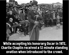 Did you know that while accepting his honorary Oscar in 1972, Charlie Chaplin received….
