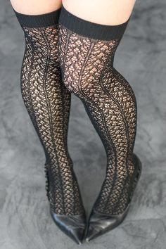 Socks by Sock Dreams » .Socks Special Collections » Lace » Crochet Lover Over the Knees