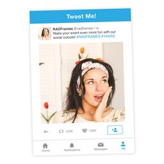 Twitter Style Frame Selfie Cutout - CLICK TO GET IT!