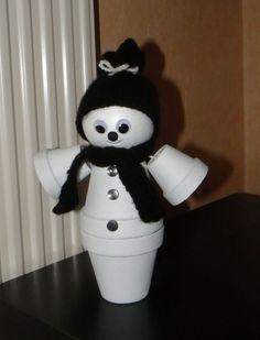 Snowman jar bocal bonhomme de neige top pinterest - Bonhomme en pot de terre ...